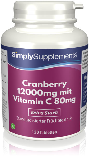 Cranberry 12.000mg mit Vitamin C 80mg