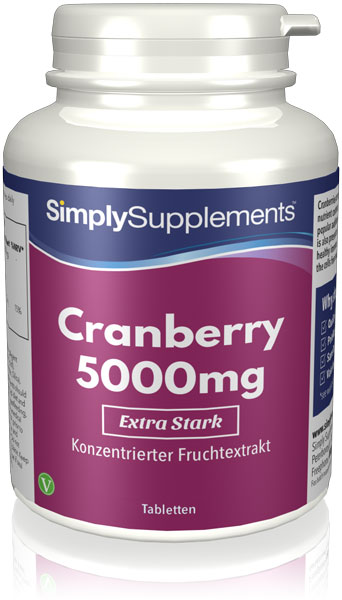 120 Tablet Tub - cranberry 5000mg