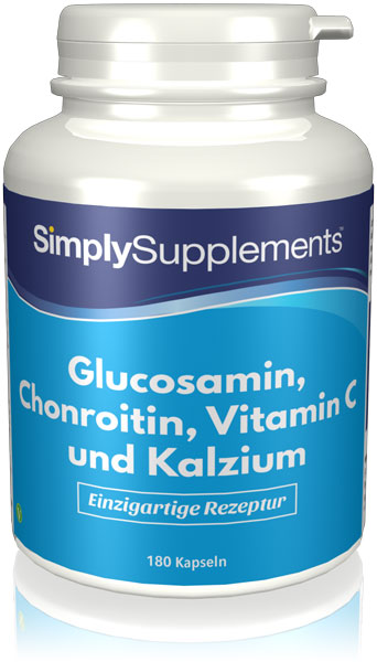 Glucosamine, Chondroitin, Vitamin C & Calcium Capsules - S134