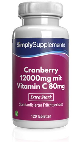Cranberry Tablets 12000mg - E463
