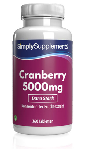120 Tablet Tub - cranberry 5000mg