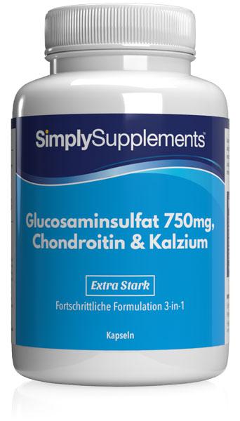 Glucosamin 750mg, Chondroitin & Kalzium