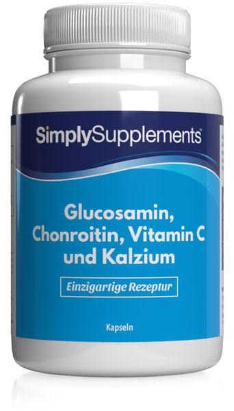 Glucosamin 410mg, Chondroitin 100mg, Vitamin C und Kalzium