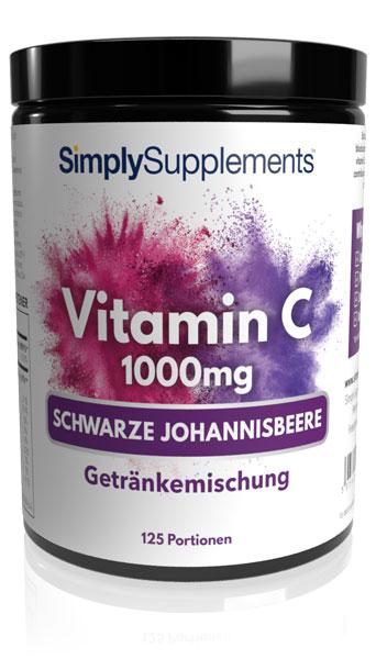 Vitamin C 1000mg – Pulver – Schwarze Johannisbeere