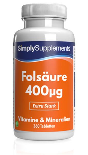 Folic Acid / Vitamin B9 Tablets 400mcg - E159