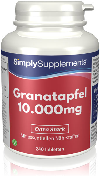Pomegranate Extract Tablets 10000mg - E511