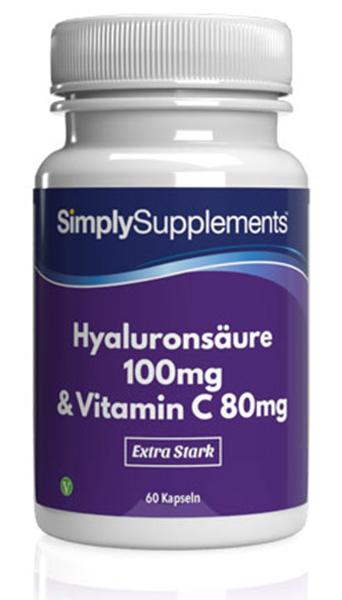Hyaluronsäure 100mg mit Vitamin C 80mg