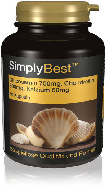 Glucosamin 700mg, Chondroitin 600mg & Kalzium 60mg - SimplyBest
