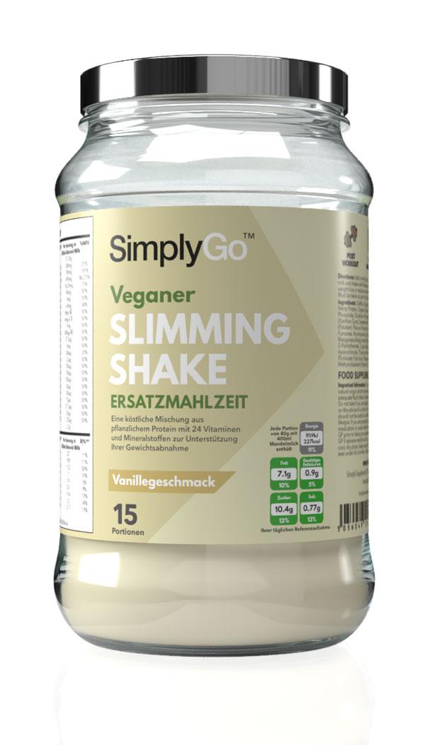 Slimming Shake für Veganer - Mahlzeitenersatz