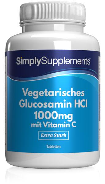 Vegetarisches Glucosamin HCI 1000mg mit Vitamin C 40mg